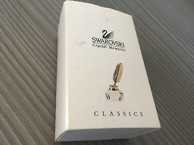 Swarovski Crystal Memories Classics Ink Well & Gold Quill. 189195. Retired.