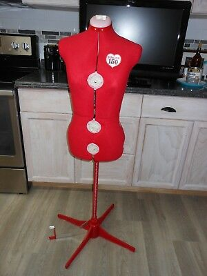 Red Singer Sewing Dress Form; Adjustable dials Medium/Large - Model 150