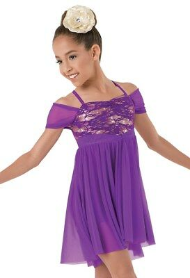 New Competition Figure Skating Dress Empire Waist  Youth XXLC 12-14