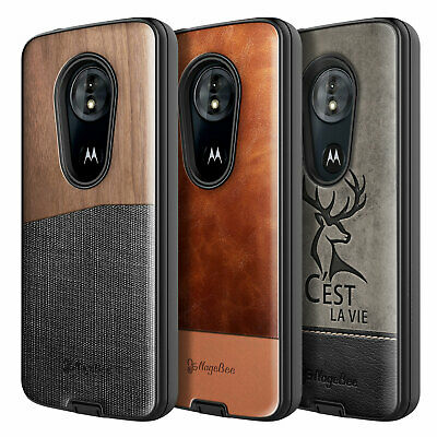 Motorola Moto G6 Play / G6 Forge Case | Shockproof Hybrid Cover +Glass Protector