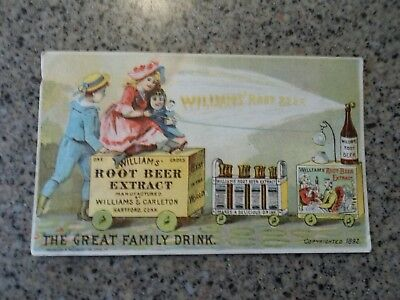Nice old Victorian trade card - Williams' Root Beer Extract, Hartford, Conn.