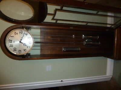 Art deco longcase clock Triple movement