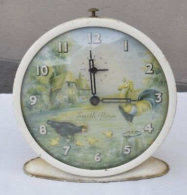 Vintage Smiths Cockerel and Chicken Chicks  Alarm Clock
