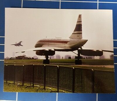 Concorde and Tu 144 at Paris Le Bourget rp postcard limited edition