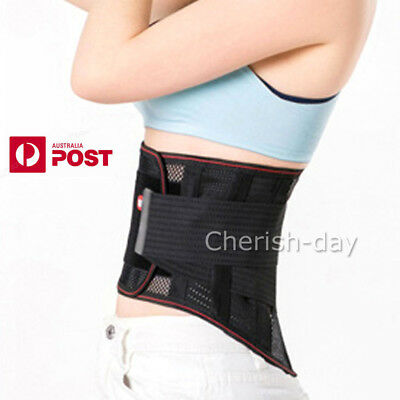 Magnetic Waist Support Brace Lumbar Lower Back Posture Trimmer Correctors Belt