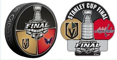 2018 Stanley Cup Final Puck Vegas Golden Knights Washington Capitals W/ Sticker