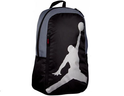Nike AIR JORDAN Boys Iso Backpack, with Laptop Compartment, Black
