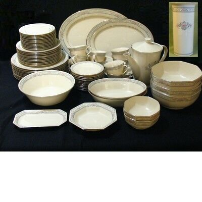 Lenox Charleston Fine China Dinner Set 12 Placement With Accessories 79 Pieces