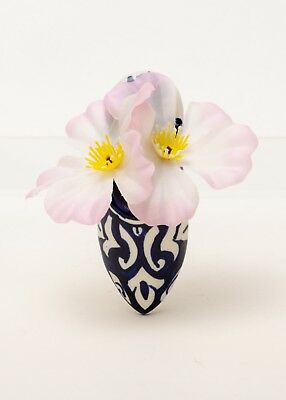 Small Wall Pocket Vase l'Balgha Moroccan Slipper Form Naji Delft Faience Pottery