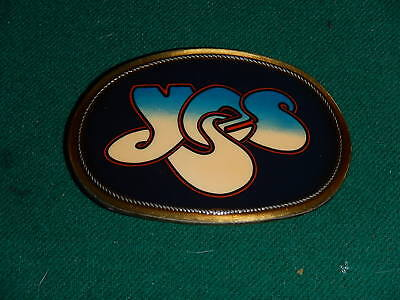 1976 YES (Rock Band) Belt Buckle Pacifica Mfg. Solid Brass & Laminate Excellent