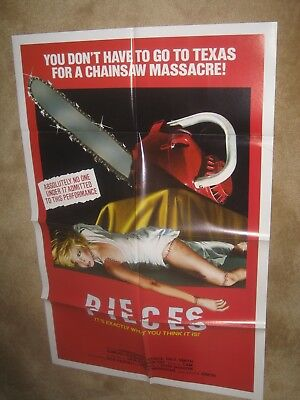 PIECES '83  Splatter  / cult /  chainsaw horror !  Great graphics and condition!