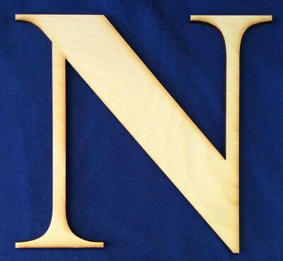 """Wood Letter Unfinished 8/"""" tall New Roman Bold Font Letter /""""F/"""" Made In The USA"""