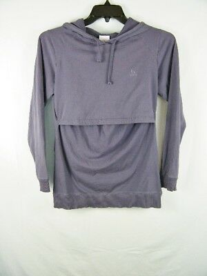 Boob Design B Warmer Purple Nursing Hoodie Baby Long Sleeve Top Women's Medium M