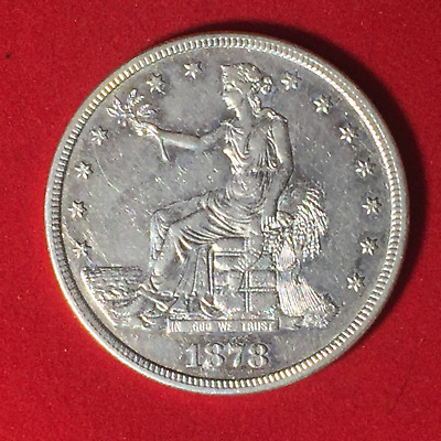 1878-S $1 Trade Dollar XF Cleaned