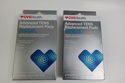 CVS HEALTH ADVANCED TENS Targeted Muscle Therapy 8 Replacement Pads