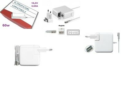 ALIMENTATORE Compatibile per APPLE MACBOOK 60W A1184 16.5V 3.65A PRO 13""