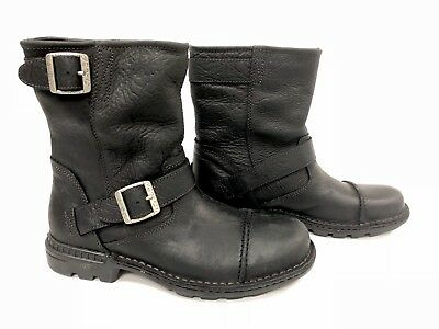 fdc6292600f UGG AUSTRALIA 3040 ROCKVILLE II MOTORCYCLE BOOTS WATER RESISTANT BLACK  LEATHER