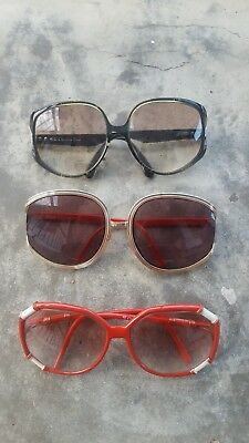 Vintage Sunglasses Christian Dior & Club Mediterranne x 3 Early 70's