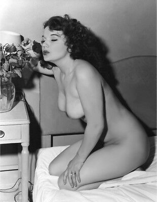 1960's Vintage Nude Pin up Rose Kiss 8.5 x 11 Photograph