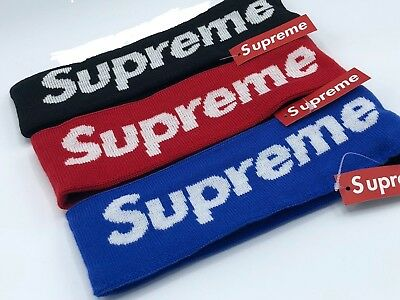 SUPREME HEADBAND New Era 2014 RED & BLACK BLUE All Colors NWT MEMORIAL DAY SALE