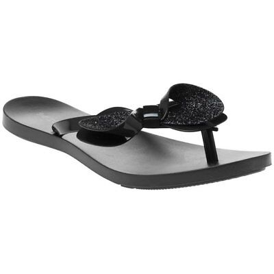 0d6409880 ZAXY NEW FRESH Bow white glitter womens flat fashion flip flops ...