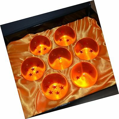 New DragonBall Z Stars Crystal Glass Ball 7pcs with Gift Box, LARGE 76MM in d...