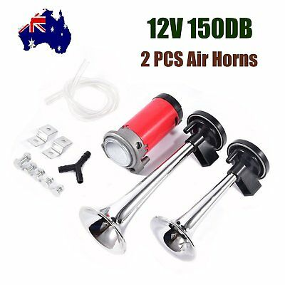 150dB Air Horn Dual Trumpet Loud for Truck Train Lorry Boat Motorcycle Car 12V