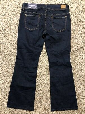 Nwt Ae American Eagle Outfitters Original Boot Super Stretch Womens Jeans 14 S