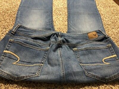 Ae American Eagle Outfitters Kick Boot Stretch Womens Designer Jeans 16 S