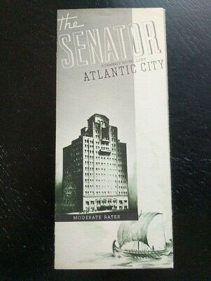 Antique The Senator Hotel Brochure ~ Atlantic City