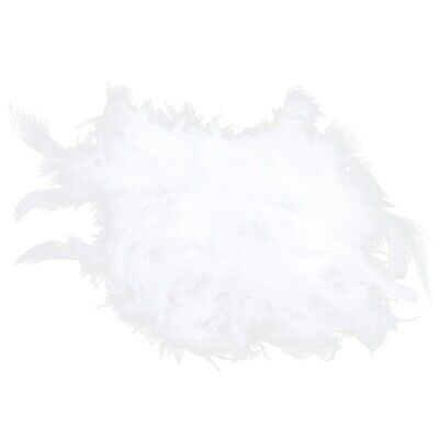 2m Feather Boas Fluffy Craft Costume Dressup Wedding Party Home Decor White B7T7