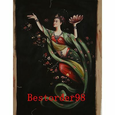 "Hand-painted Oil Painting On Canvas - Dunhuang Flying Beauty  43""x27"" dyh016"