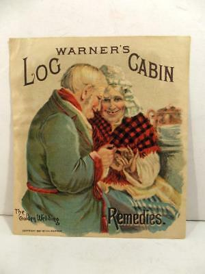Warner's Safe Yeast Log Cabin Remedies 'The Golden Wedding'  Trade Card c1887