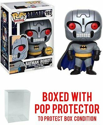 Funko Pop Vinyl Batman The Animated Series Robot Batman Chase  #193 w/Protector