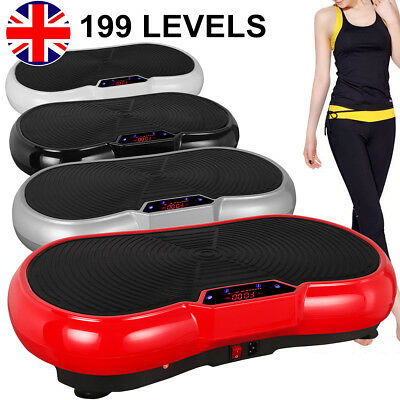 500W Vibration Plate Platform Fitness Machine Body Shaper Exercise Massage UK