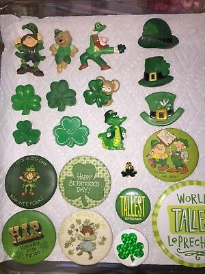 Vintage Hallmark Pin Lot of St. Patrick's Day Lapel Pins Brooches CHOICE