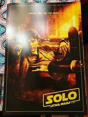 Star Wars Solo Story 19x13 Poster & Buttons Cinemark Opening Night Fan Event