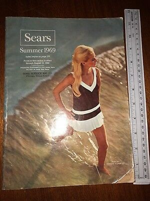 Vintage Sears 1969 Summer Catalog Good Condition