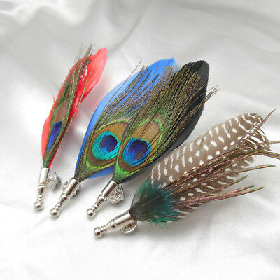 ae0f57aa990 Chic Hand Made Genuine Pheasant Feather Hat   Lapel Pin Brooch Mens  Accessories
