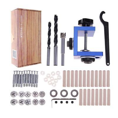 Drill Bit Joinery Punching Tools Pocket Hole Jig Joiner Kit Wood Working Step