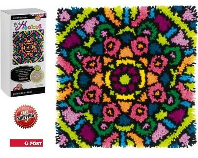 Latch Hook Rug Craft Kit Colourful Mandala By Dimensions 40 X 40cm Free Postage