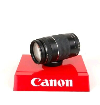Like New!! Canon EF 75-300mm 1:4-5.6 III Zoom Lens for EOS Rebel Cameras.