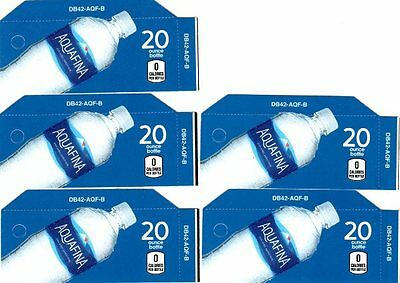 Aquafina Water Labels - 5 Small 20oz Bottle Soda Vending Machine Calories Labels