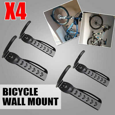 4X Bicycle Wall Rack Mount Bike Storage Steel Hanger Hook Stand Holder New