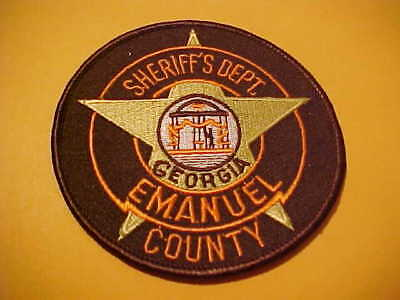 Emanuel County Georgia Police Patch Shoulder Size New 4 X 4 Inch