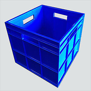 Heavy Duty Record Crate Vinyl LP Storage 33x33x28cm internal BLACK, BLUE or RED