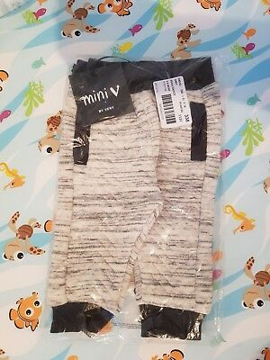 New with tags baby boy joggers by mini V 3-6 months