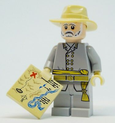 Custom ww2 minifigure ACW, BrickArms,General Lee Confederate american civil war