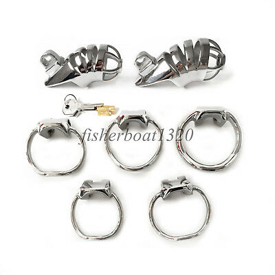 Male Chastity Cage Stainless Steel Device Restraint Metal Design Cock Lockable