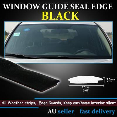 17mm Only For Car Windows Weather Strips Rubber Seal Rain Water Proof Push-On AU